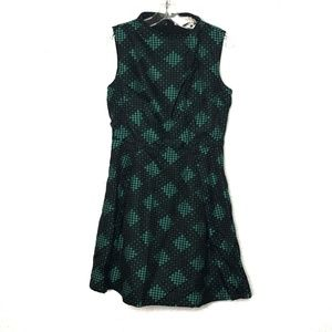 Modcloth black & green print Hensley dress
